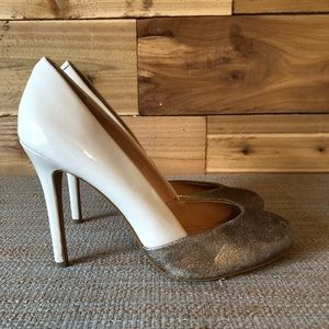 Sole Society Nude and chrome gold/brown [352]